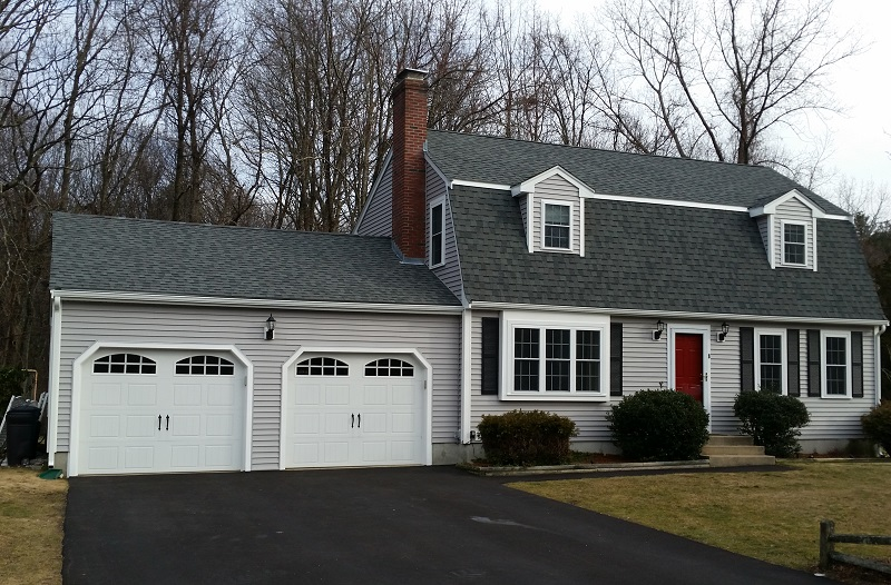 Exterior home remodeling project in franklin ma jancon exteriors - Exterior home improvements ...