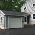 new asphalt roof garage