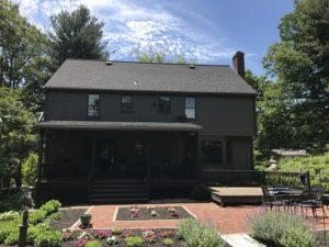 backyard of house with hardie