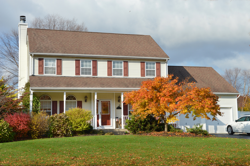 House's Exterior During Fall