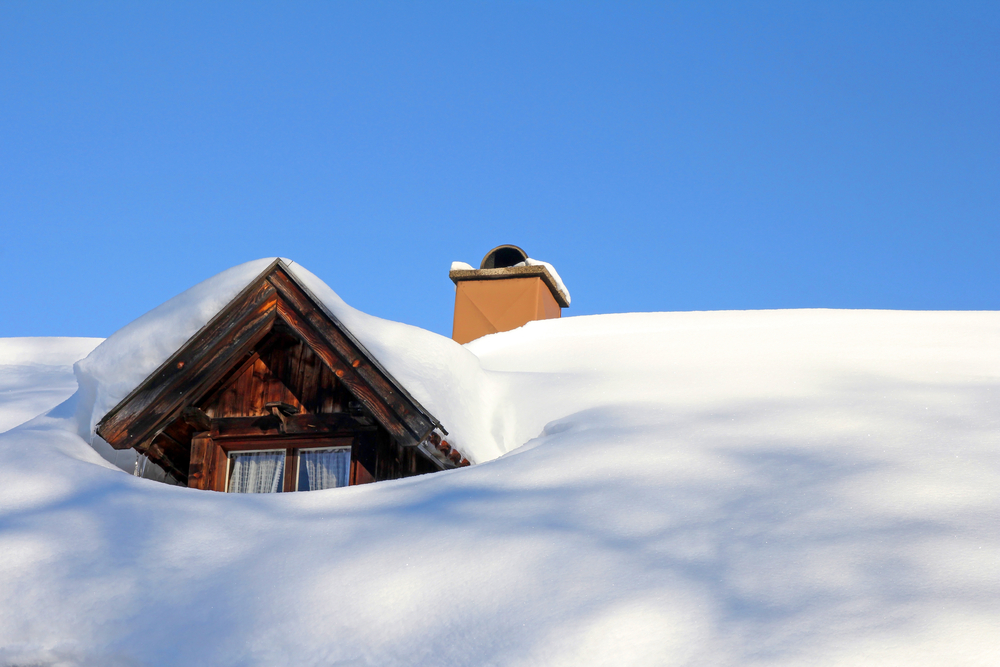 SNow on roof