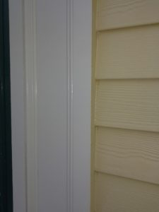 white trim on home