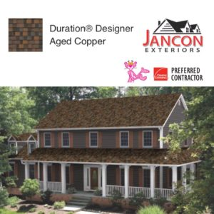 House with Duration Designer Aged Copper Shingles