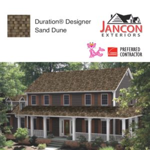 House with Duration Designer Sand Dune Shingles