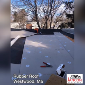 installation of rubber roof