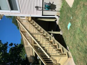 wooden deck rails